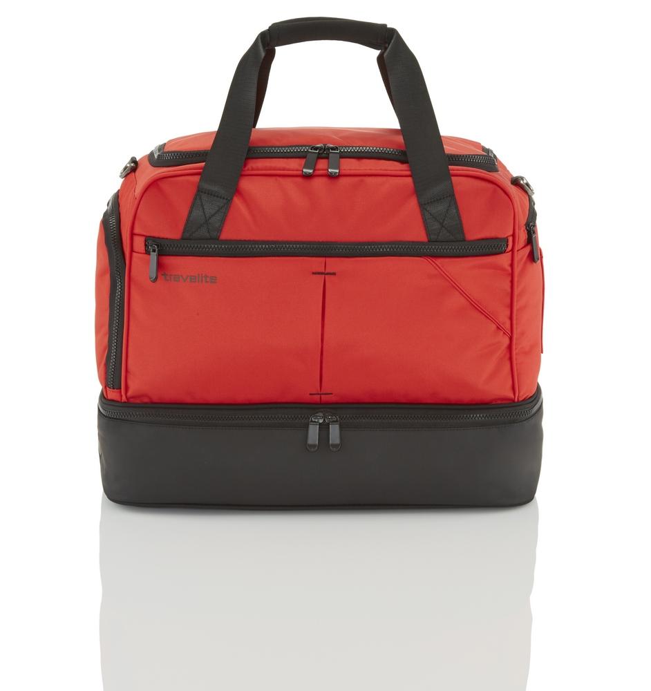 Travelite Flow Locker Bag Red Odolná športová taška Travelite Flow Locker Bag uľahčí vaše cestovateľské aj športové aktivity!