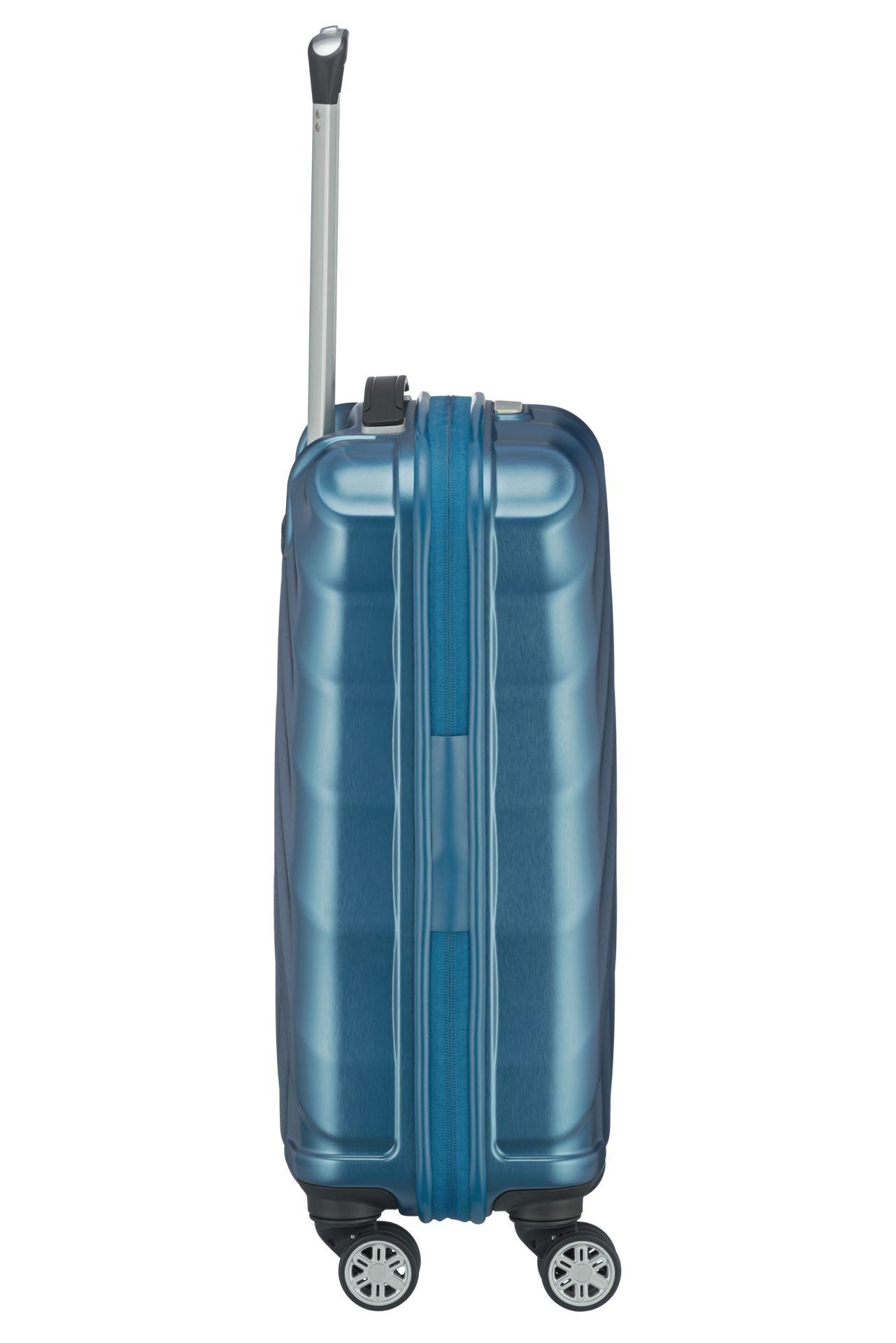 Titan Shooting Star 4w S Petrol Radi by ste mali ľahký, elegantný a odolný kufor, ktorý vám poskytne potrebný priestor a pritom vás nesklame?  - štyri veľké a tiché dvojkolieskami s pogumovaním otočné o 360° - odľahčená výsuvná rukoväť - vnorený integrovaný TSA zámok pre bezproblémové cestovanie po celom svete - obojstranný baliaci systém s deliacou priečkou - kompresný popruh v oboch častiach kufri - dve malé vrecká vnútri na hygienické a kozmetické drobnosti - podšívka v rovnakej farbe ako škrupina - kvalitný zips - komfortné madlo