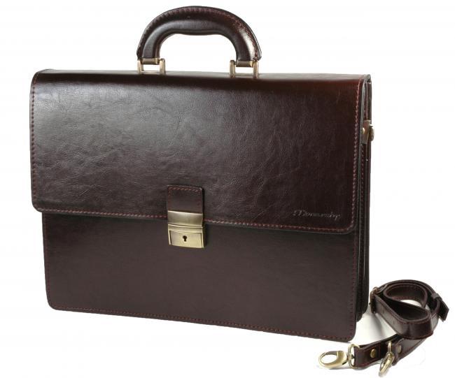 Monarchy Everyday Briefcase 860 Paul Brown.  - uzatváranie na kovovú pracku - dve hlavné priehradky - predné vrecko - vrecko na zips na zadnej strane tašky - kapsička na zips vnútri tašky - kožené púzdro na mobil - organizér na karty - rúčka pre nosenie v ruke - odnímateľný nastaviteľný ramenný popruh