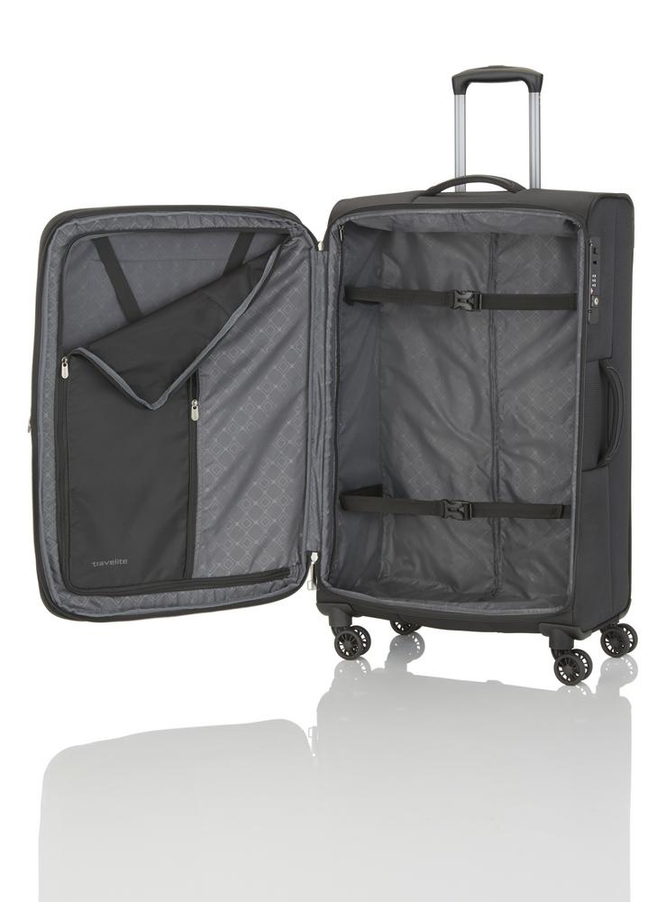 Travelite CrossLITE 4w M Black Cestujte štýlovo a bez zbytočnej záťaže!