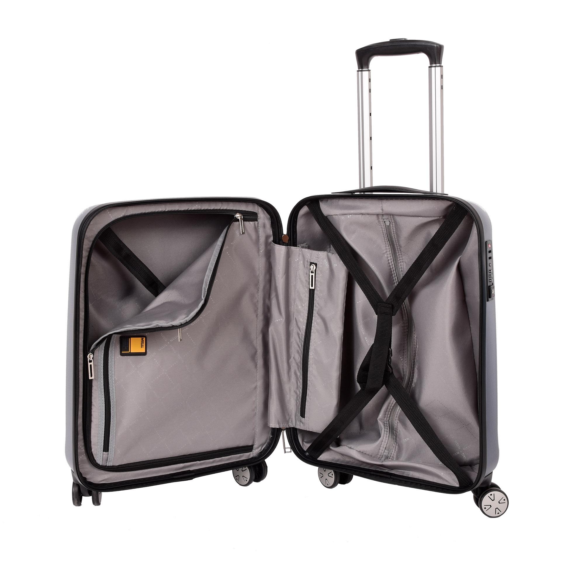 Titan Xenon 4w S Bluestone Elegantný kufor Titan Xenon 4w S z odľahčeného materiálu je štýlovým doplnkom na obchodné cesty aj na dovolenku.
