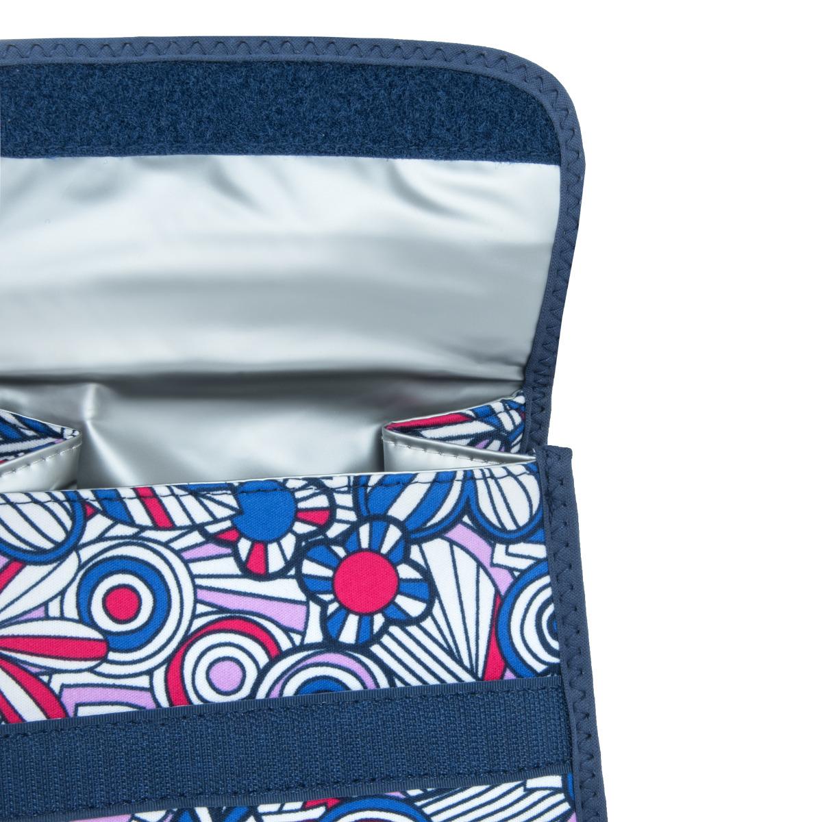 Built Girl's Lunch Sack Mosaic Flower Blue Moderná taška na jedlo pre dievčatá nadchne každú parádnicu.