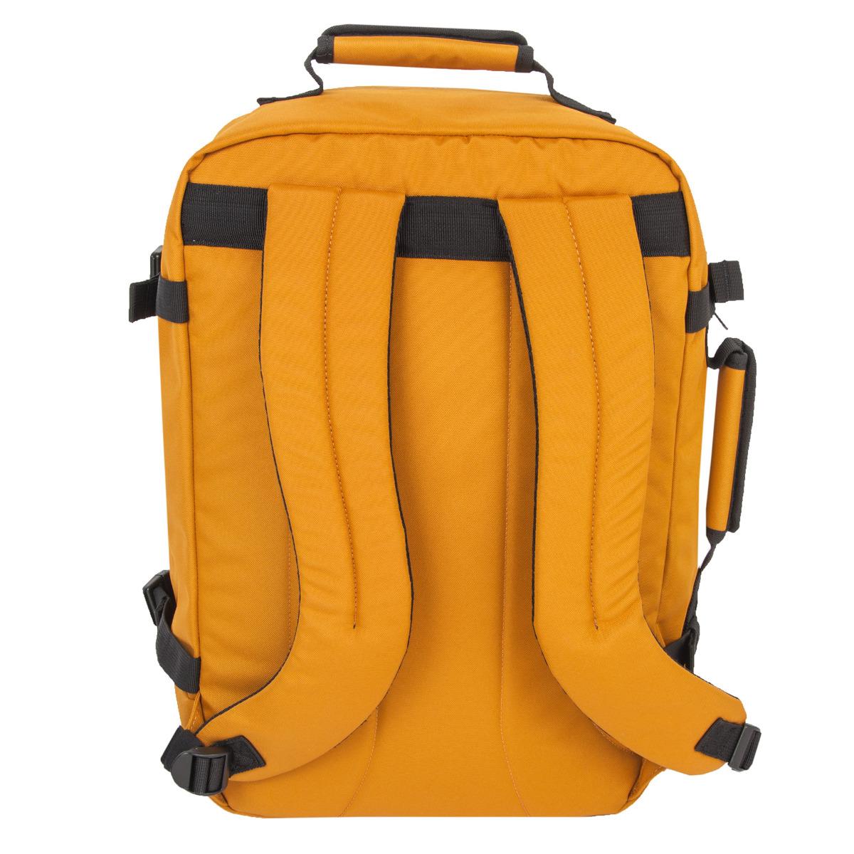 """CabinZero Classic 44L Orange Chill Hľadáte spoľahlivého spoločníka na cesty?  - špeciálne YKK zipsy, najodolnejšie zipsy vo svojej triede - spony a pracky UTX Duraflex z veľmi odolných materiálov - bočné sťahovacie popruhy z vonkajšej strany - držadlo na vrchnej strane aj z boku pre pohodlné nosenie v ruke - pohodlné ramenné popruhy - lemované švy - hlavná komora na zips - jazdce zipsu možno zamknúť visiacim zámkom - predné vrecko na zips na drobnosti - vnútorné vrecká zo sieťoviny aj na zips pre ľahšiu organizáciu vašich vecí - vonkajšia látka a ďalšie prvky z vodeodolných materiálov - integrovaný systém Global Luggage Tracker od spoločnosti Okoban - desaťročná záruka, ktorú možno zadarmo predĺžiť na 25 rokov, keď dáte """"like"""" stránke CabinZero na FB (najneskôr do 30 dní odo dňa nákupu)  Čo je Global Luggage Tracker od spoločnosti Okoban? Ide o bezpečnostný prvok, vďaka ktorému sa do rúk majiteľa často vráti stratená alebo ukradnutá batožina."""
