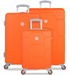SUITSUIT TR-1249/3 Caretta Vibrant Orange – súprava 3 kufrov