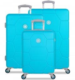 SUITSUIT TR-1250/3 Caretta Peppy Blue – súprava 3 kufrov