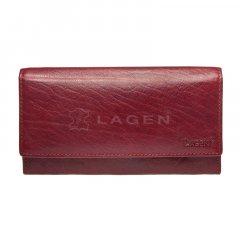 Lagen Dámska peňaženka kožená V40/T Červená