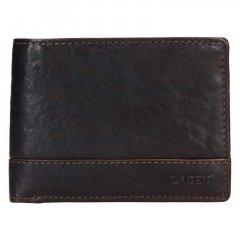 Lagen Pánska peňaženka kožená LG 6504/T Tmavo hnedá