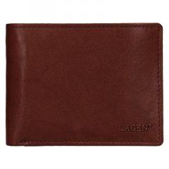 Lagen Pánska peňaženka kožená W 8053 Hnedá