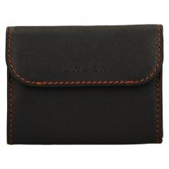 Lagen Pánska peňaženka kožená TP 814 Tmavo hnedá