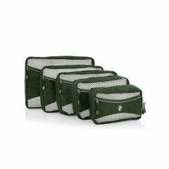 Heys Eco Packing Cube 5pc Set II Green