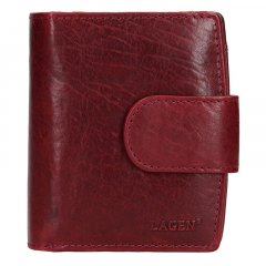 Lagen Dámska peňaženka kožená 3807/T Vínovo červená