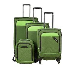 Travelite Derby 4w S,M,L Green – sada 3 kufrov + Board Bag