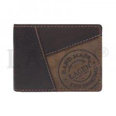 Lagen Pánska peňaženka kožená 511451 Hnedá