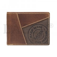Lagen Pánska peňaženka kožená 511451 Svetlo hnedá