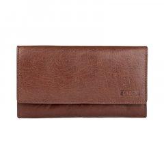 Lagen Dámska peňaženka kožená V62 Hnedá