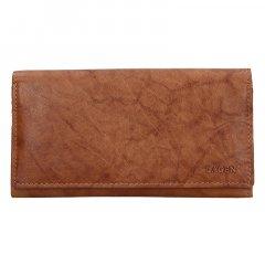 Lagen Dámska peňaženka kožená V13 Svetlo Hnedá