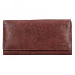 Lagen Dámska peňaženka kožená V13 Hnedá
