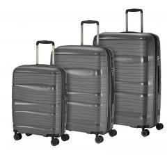 Travelite Motion S,M,L Anthracite – súprava 3 kufrov