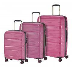 Travelite Motion S,M,L Rose – súprava 3 kufrov