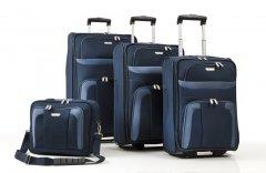 Travelite Orlando S,M,L – súprava 3 kufrov + Boarding Bag Navy