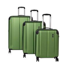 Travelite City 4w S,M,L Green – súprava 3 kufrov