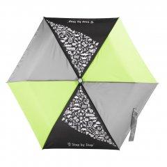Detský skladací dáždnik čierna / sivá / zelená