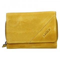 Lagen Dámska peňaženka kožená LG 2522/DZ Žltá