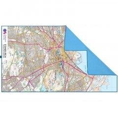 Lifeventure SoftFibre OS Map Towel Edinburg