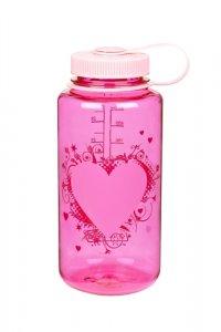 Nalgene Wide Mouth 1 l Pink heart