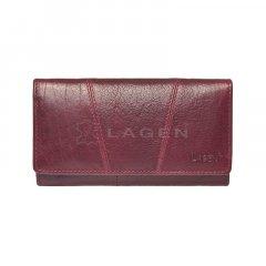 Lagen Dámska peňaženka kožená PWL-388/T Vínová