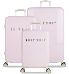 SUITSUI TR-1221/3 súprava 3 kufrov ABS Fabulous Fifties Pink Dust