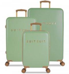 SUITSUIT TR-7103/3 Fab Seventies Basil Green – súprava 3 kufrov