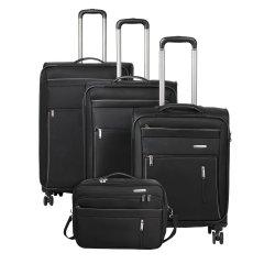 Travelite Capri 4w S,M,L Black – súprava 3 kufrov + BB
