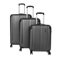 Travelite City 4w S,M,L Anthracite – súprava 3 kufrov