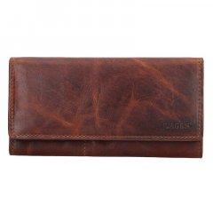 Lagen Dámska peňaženka kožená V-102/M Hnedá
