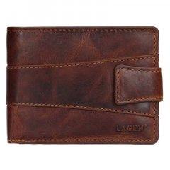 Lagen Pánska peňaženka kožená V-98/M Hnedá