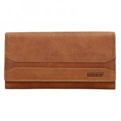 Lagen Dámska peňaženka kožená W-2025/V Hnedá
