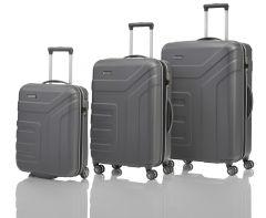 Travelite Vector 2w S, 4w M,L Anthracite – súprava 3 kufrov