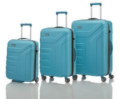 Travelite Vector 2w S, 4w M,L Turquoise – súprava 3 kufrov