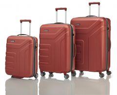 Travelite Vector 2w S, 4w M,L Coral – súprava 3 kufrov