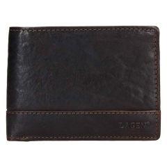 Lagen Pánska peňaženka kožená LG 6504 / T Tmavohnedá