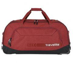 Travelite Kick Off Wheeled Duffle Red
