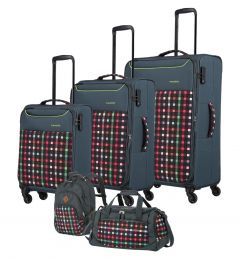 Travelite Argon S,M,L + Backpack + Duffle Checked Pattern