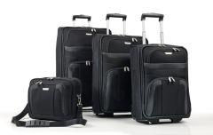 Travelite Orlando S,M,L – súprava 3 kufrov + Boarding Bag Black