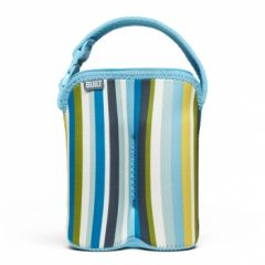 Built Bottle Buddy - Two Bottle Tote - Baby Blue Stripe