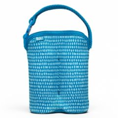 Built Bottle Buddy - Two Bottle Tote - Dribble Dots Blue