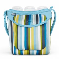 Built Three Baby Bottle Tote Baby Blue Stripe