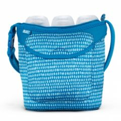 Built Three Baby Bottle Tote Dribble Dots Blue