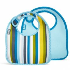 Built Infant Bib Baby Blue Stripe