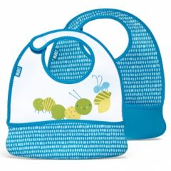 Built Toddler Bib Dribble Dots Blue